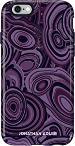 Speck Products CandyShell Inked Jonathan Adler Cell Phone Case for iPhone 6 Plus/6S Plus, MalachitePurple/BerryBlack Glossy