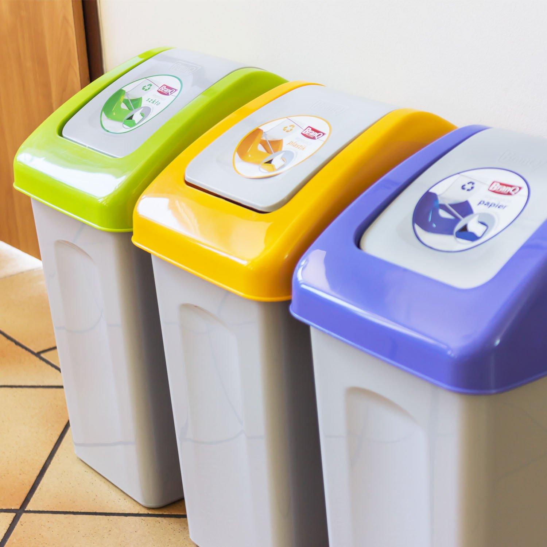 Elegant 10 L Mülleimer Abfalleimer Schwingdeckel Grün Mülltrennung Branq Kunststoff  öko: Amazon.de: Küche U0026 Haushalt