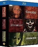 Conjuring : Les Dossiers Warren + Annabelle + L'exorciste - 3 Films d'horeur - Coffret Blu-Ray