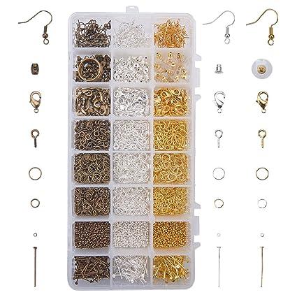 Art & Craft Supplies bead making Complete DIY Earring Making Kit Ear Wires Hooks Pins Earnuts Jewelry Supplies