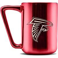 Duck House LCE NFL Cleveland Browns Taza de café de cerámica grabada a láser, Acabado metálico, 16 oz