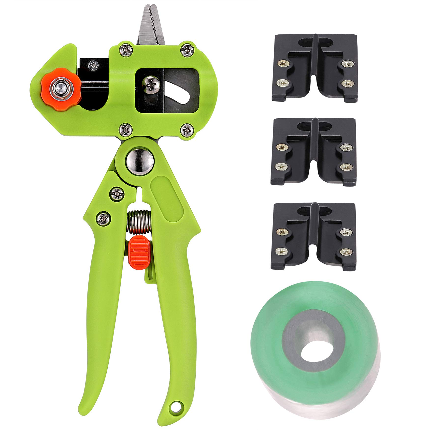 NAYE Grafting Tool for Fruit Trees with Grafting Tape and 3 Blades(U-Cut V-Cut Ω-Cut),Green by NAYE