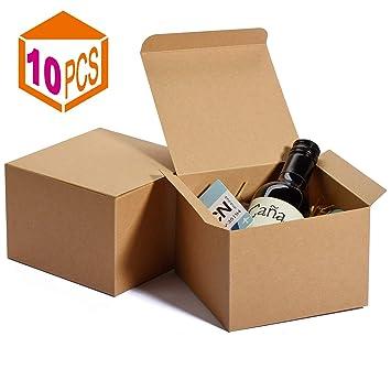 Amazon.com: MESHA Cajas de papel Kraft 5 x 5 x 3.5 pulgadas ...