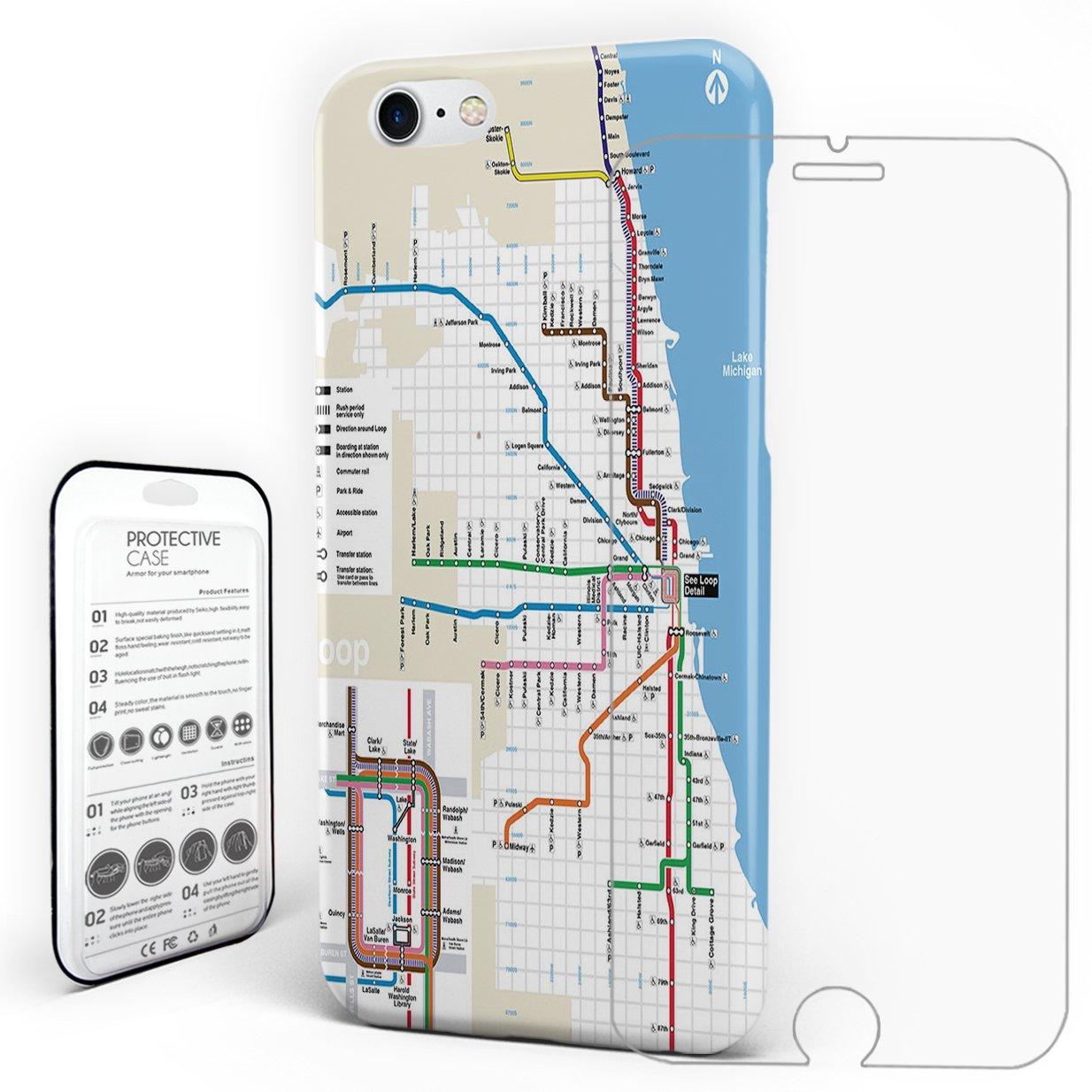 Subway Map Phone.Amazon Com Phone Case Protectivedesign Hard Back Case Chicago