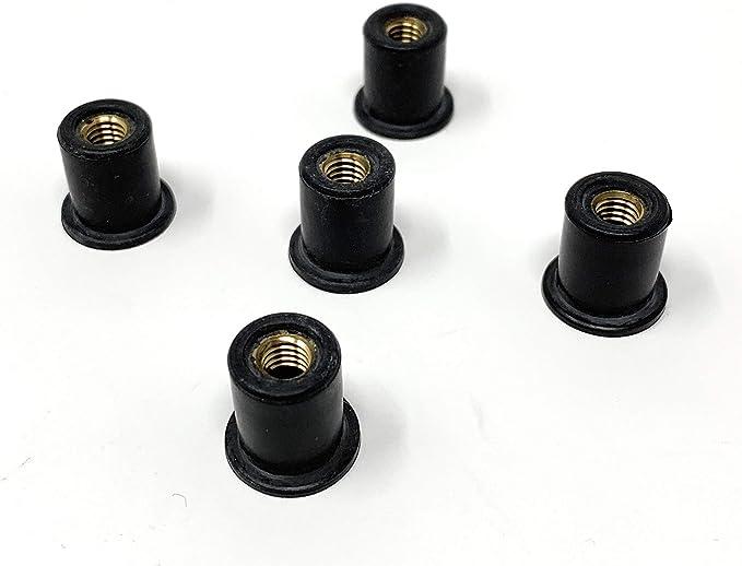 Design61 5x Blindmuttern Gummimuttern Mit Anschlagbund M6 Neopren Für Auto Motorrad Auto