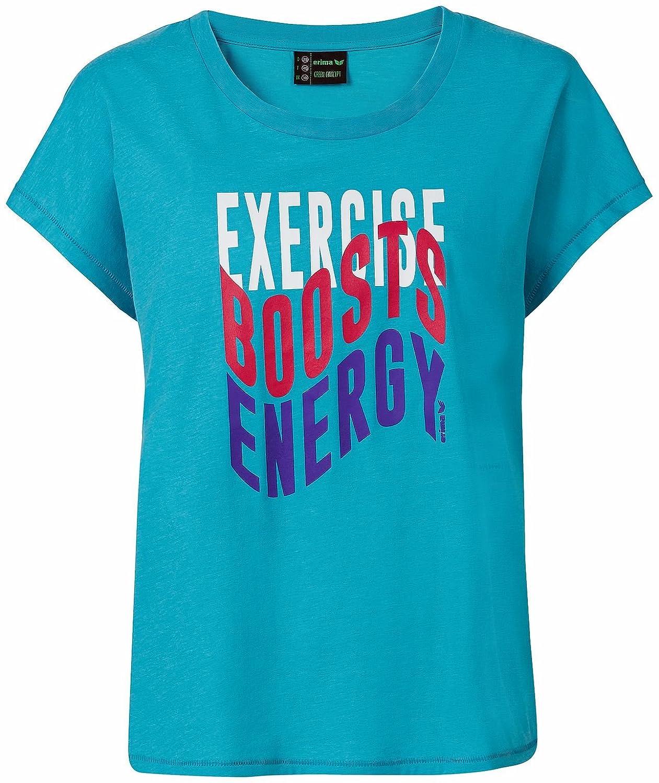 TALLA 38. erima Mujer Green Concept Camiseta de Loose
