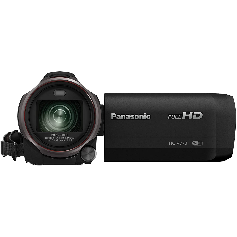 Good Salon De Jardin Amazon #12: Amazon.com : Panasonic HC-V770 Wireless Smartphone Twin Wi-Fi HD Video  Camera Camcorder + 64GB Card + Case + LED Light + Microphone + Tripod +  Tele/Wide ...