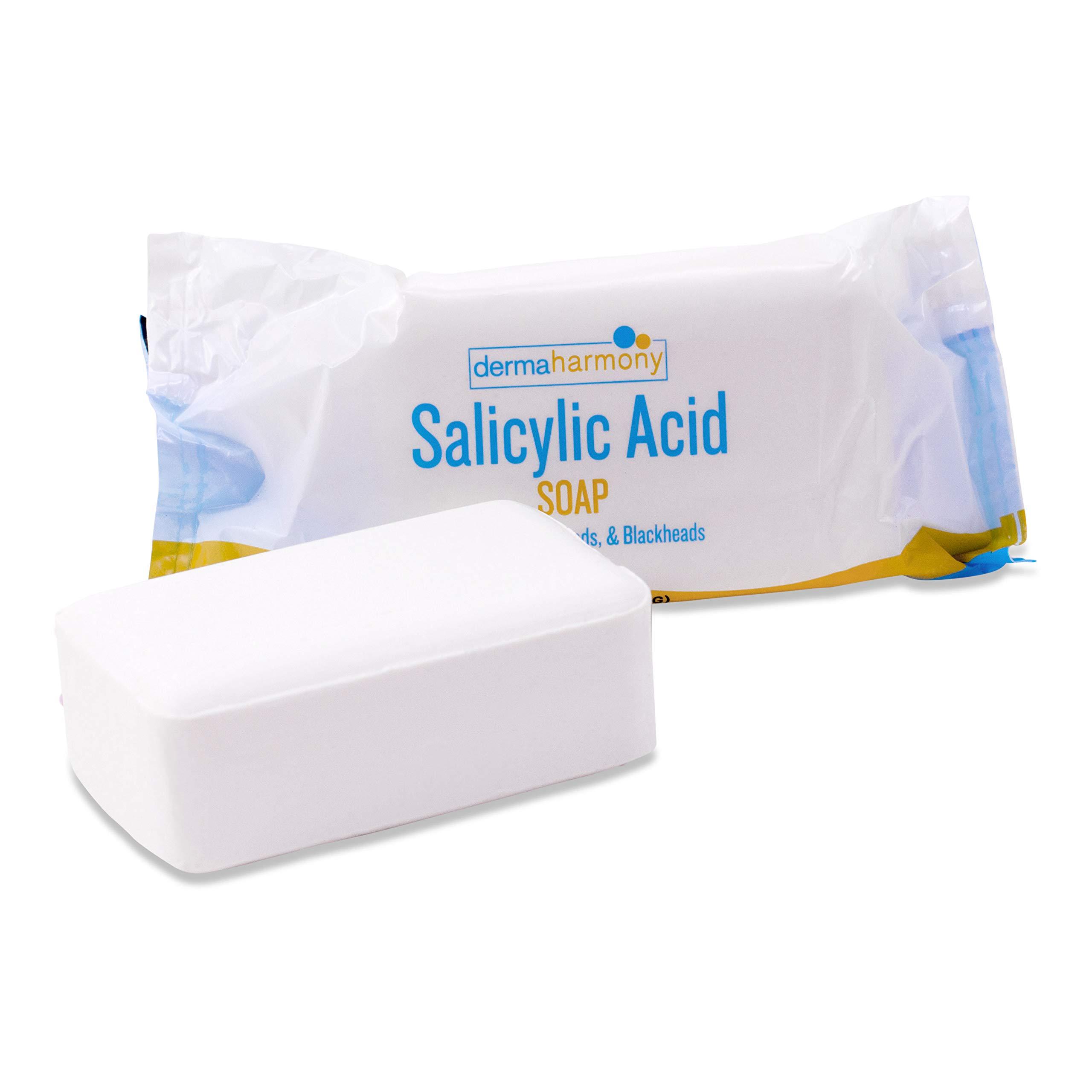 2% Salicylic Acid Natural Soap for Acne by DermaHarmony (4 oz Bar)