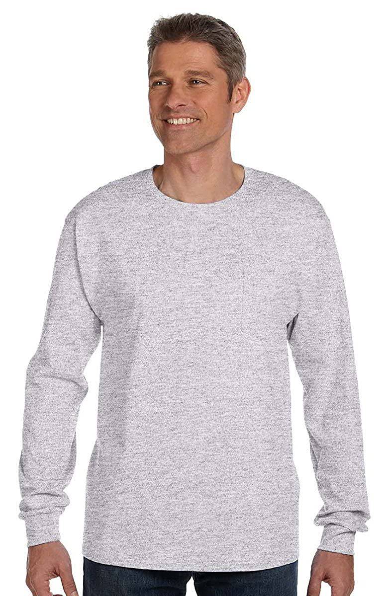 Hanes Mens Beefy-T Long-Sleeve T-Shirt