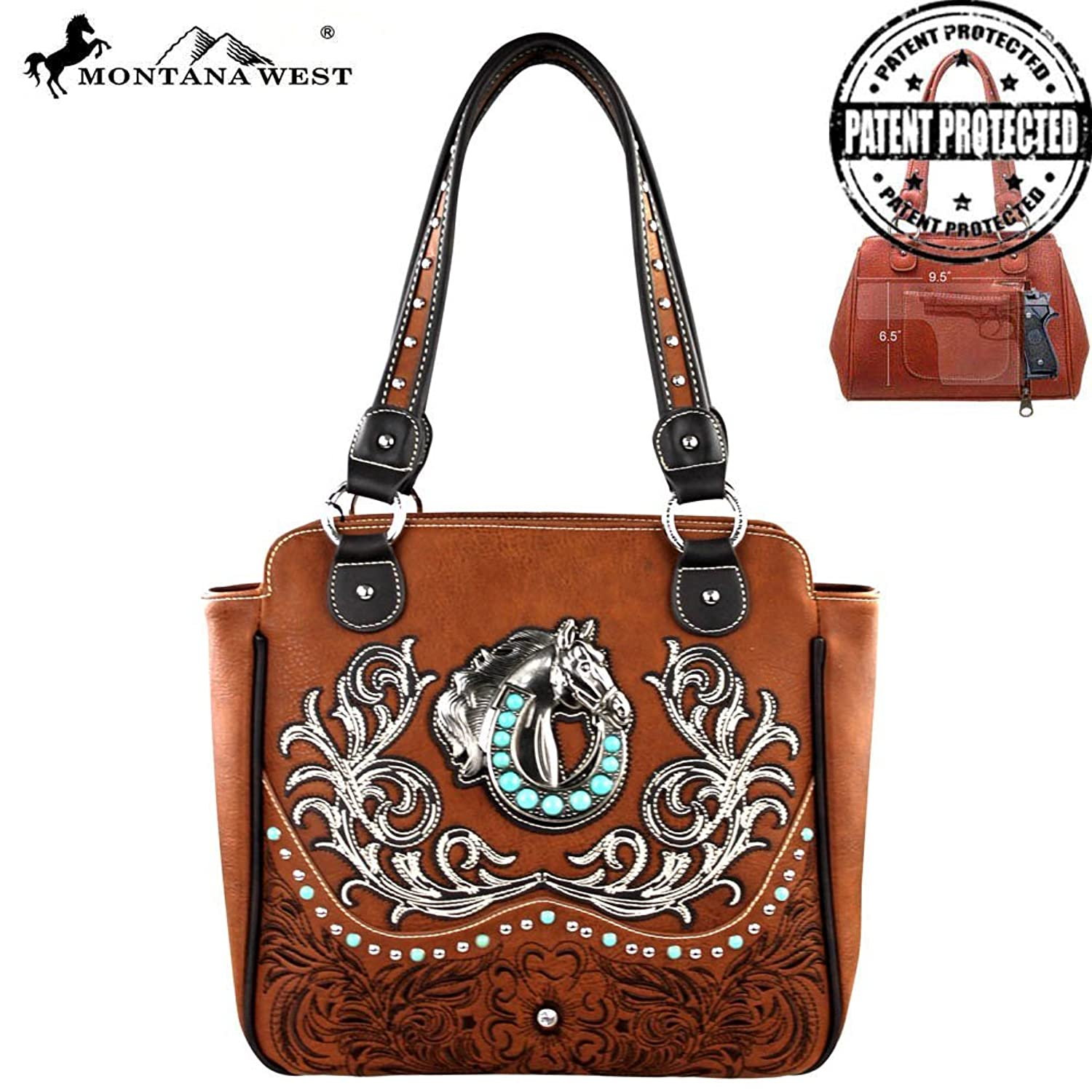 MW254G-8350 Montana West Concealed Handgun Collection Handbag