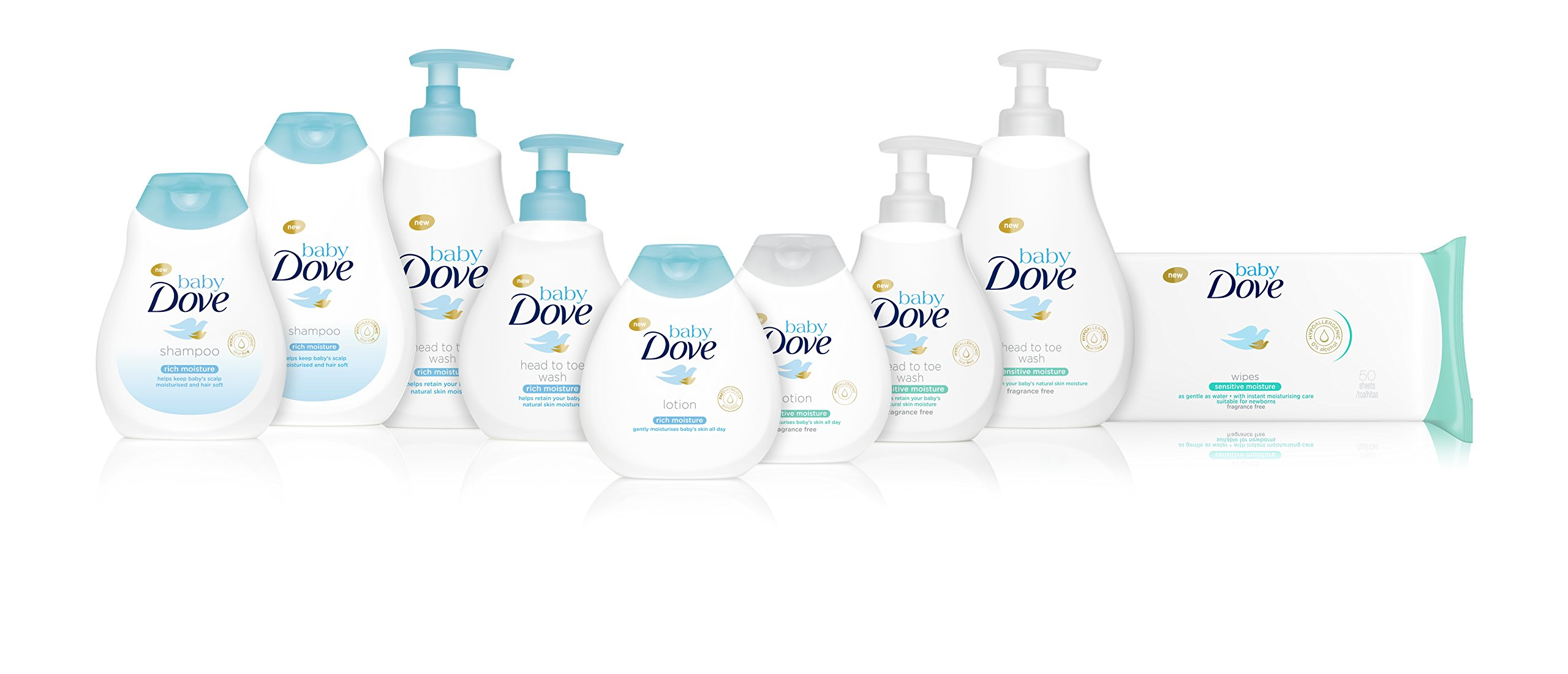 Baby Dove Sensitive Moisture Fragrance Free Wipes Multi Pack 4 x 50 per Pack