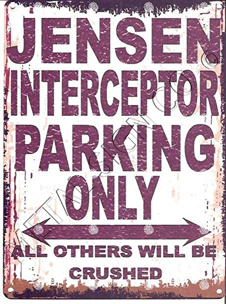Froy Jensen Interceptor Park Pared Cartel de Chapa Retro ...