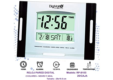 DIGIVOLT RP-8103 RELOJ DE PARED DIGITAL