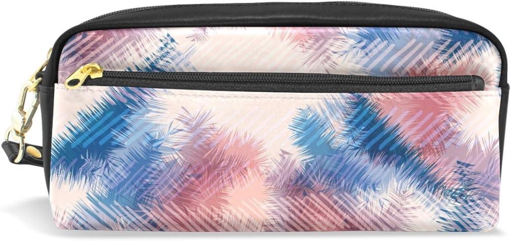 coosun hippie Tie Dye Verano Pattern Portable de PU piel estuche lápiz escuela bolsillos estacionario Pouch Case Large Capacity Make Up – Neceser: Amazon.es: Oficina y papelería