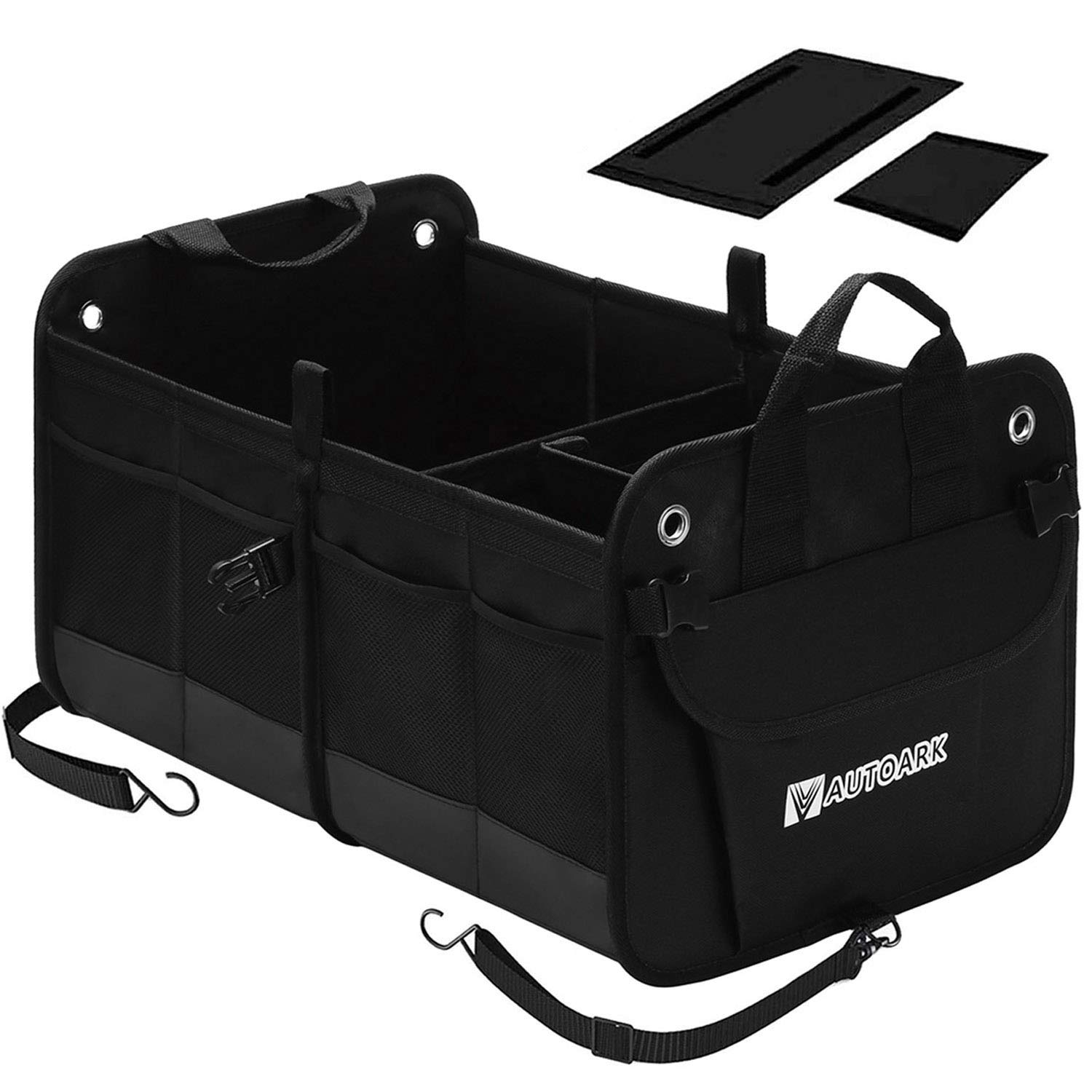 AUTOARK Multipurpose Car SUV Trunk Organizer, Durable Collapsible Adjustable Compartments Cargo Storage, AK-102