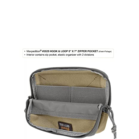 Maxpedition Hook /& Loop Zipper Pocket
