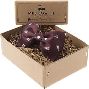 Mrs Bow Tie Oxwich Ready-Tied Bow Tie | Burgundy