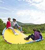 HearthSong® WonderWave Wave Rocker, Ride On Rocking Toy for Outdoor Play, Durable Handles and Protective Foam Padding, Backyard Playground Equipment - 8 ft x 8 ft