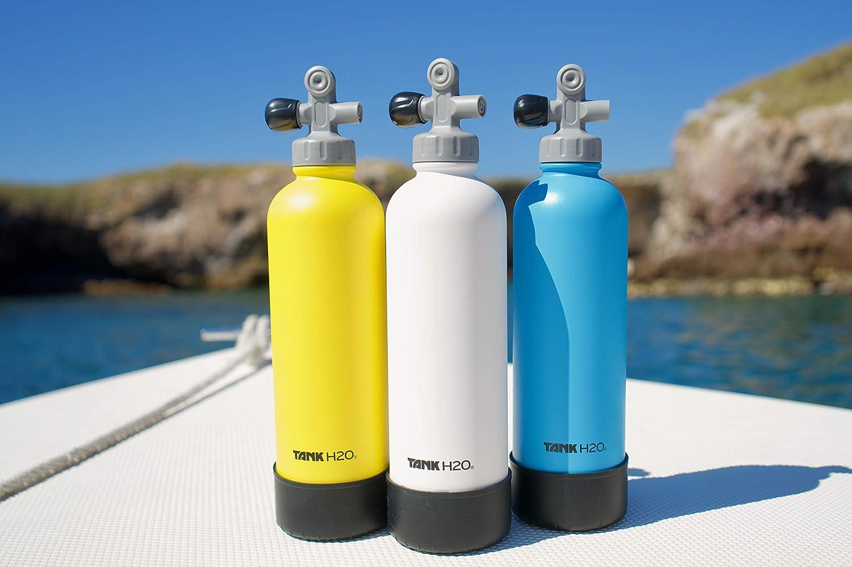 TankH2O Bouteille deau isol/é sous Vide Marine R/éservoir: Grand Cadeau et Accessoires pour Scuba Divers Peut contenir 700 ML Bottes en Silicone Cap sans BPA