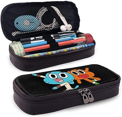 Fashion The Amazing Gumball Estuche de lápices de cuero para Unisex Talla única Negro: Amazon.es: Oficina y papelería