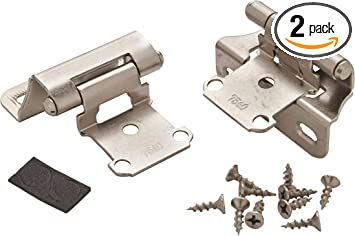 """White 1//4/"""" Overlay Partial Wrap Self Closing Cabinet Door Hinge Qty 20"""