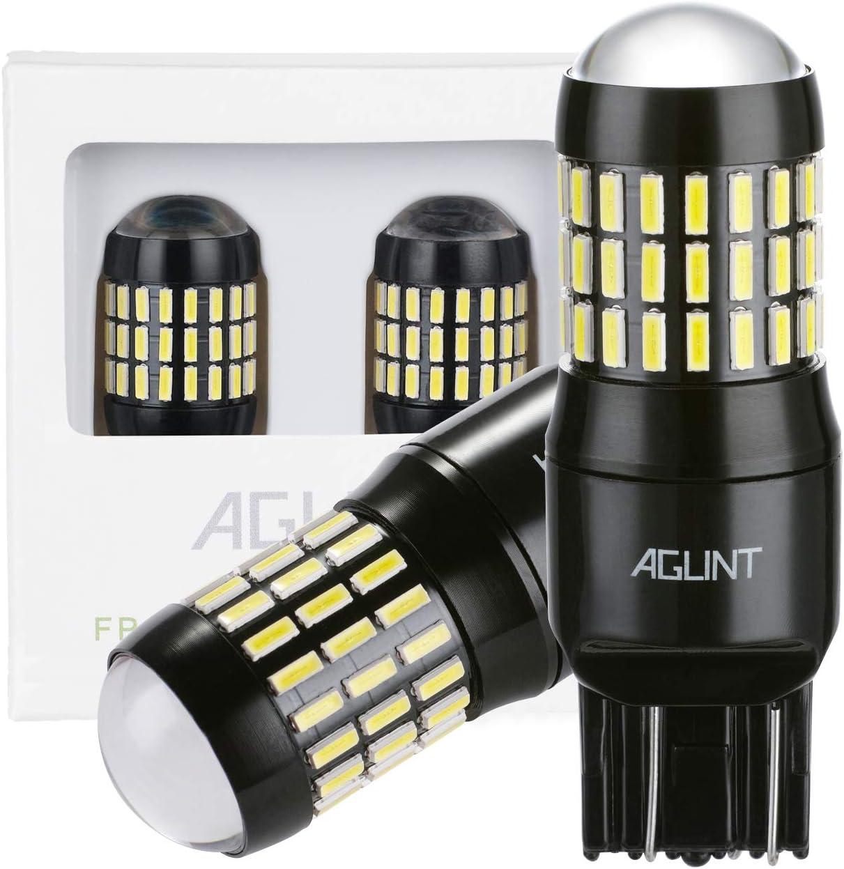 AGLINT 2X 7443 Bombilla LED 4014 Chipsets 66SMD Muy Brillante 1200 Lúmenes W21W T20 7440 LED Luz Señal de Giro Luz Uso de Auto Para Freno Cola de Copia de Seguridad Reverse Luces