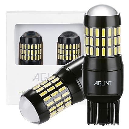 AGLINT 2X 7443 Bombilla LED 4014 Chipsets 66SMD Muy Brillante 1200 Lúmenes W21W T20 7440 LED Luz Señal de Giro Luz Uso de Auto Para Freno Cola de ...