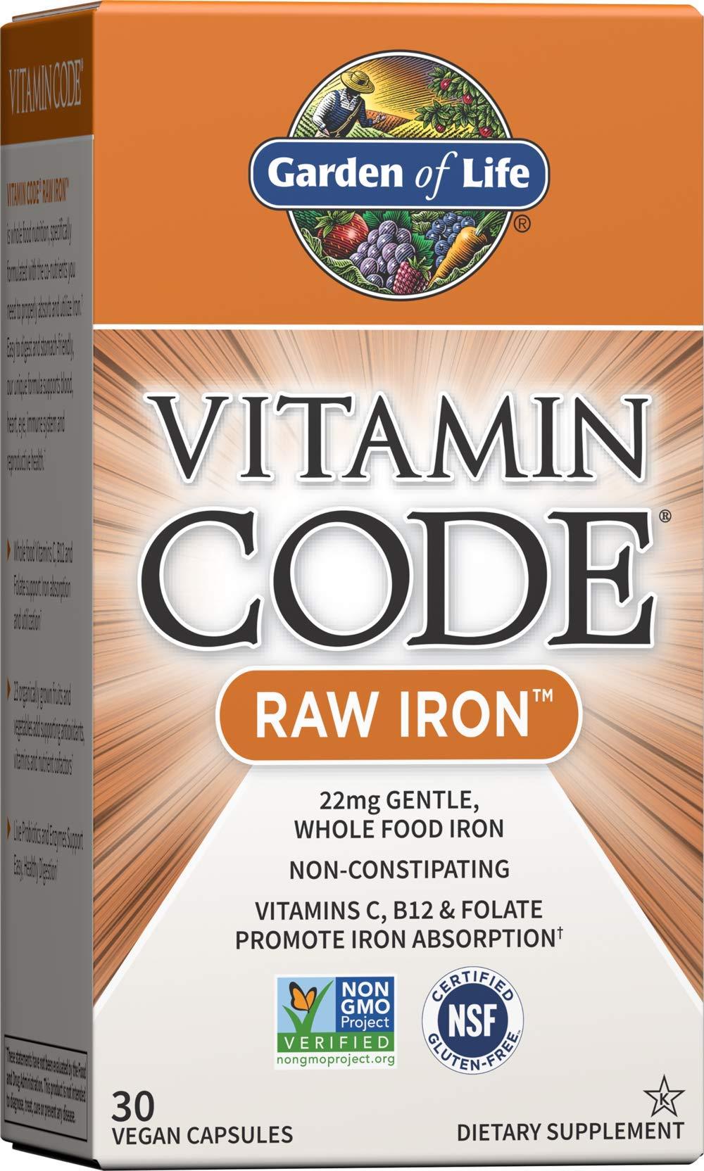 Garden of Life Vitamin Code Raw Iron Supplement