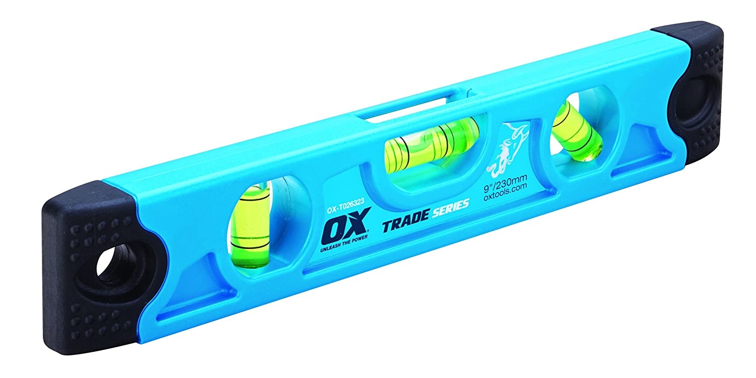 OX OX-T026323 Trade Torpedo Level, Blue, 230 mm OX Tools UK