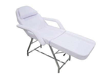 CrisNails® Camilla Fija, Camilla, sillón y silla fija profesional multifunción y económica, adecuada para masajes, tratamientos de estética y ...