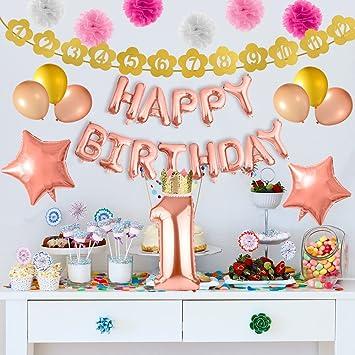 FEPITO 47 Piezas de Decoraciones para Fiestas de Primer cumpleaños ... 0c096cb95ee