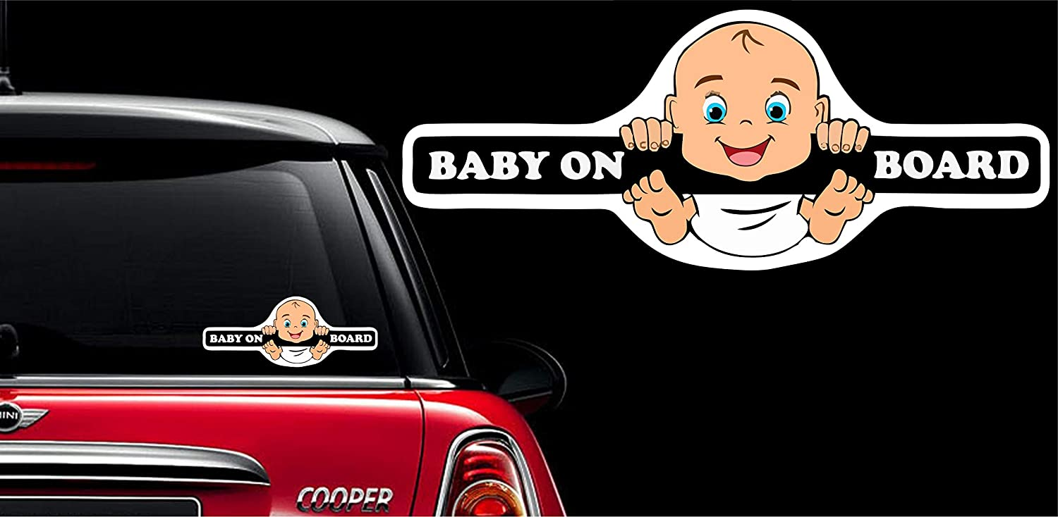 Big flag 3d baby in car styling stickers safety warning car sticker pack of 1 peeping baby amazon in car motorbike