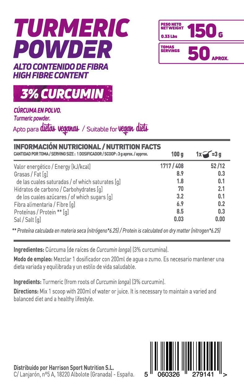 CÚRCUMA EN POLVO 150g: Amazon.es: Alimentación y bebidas
