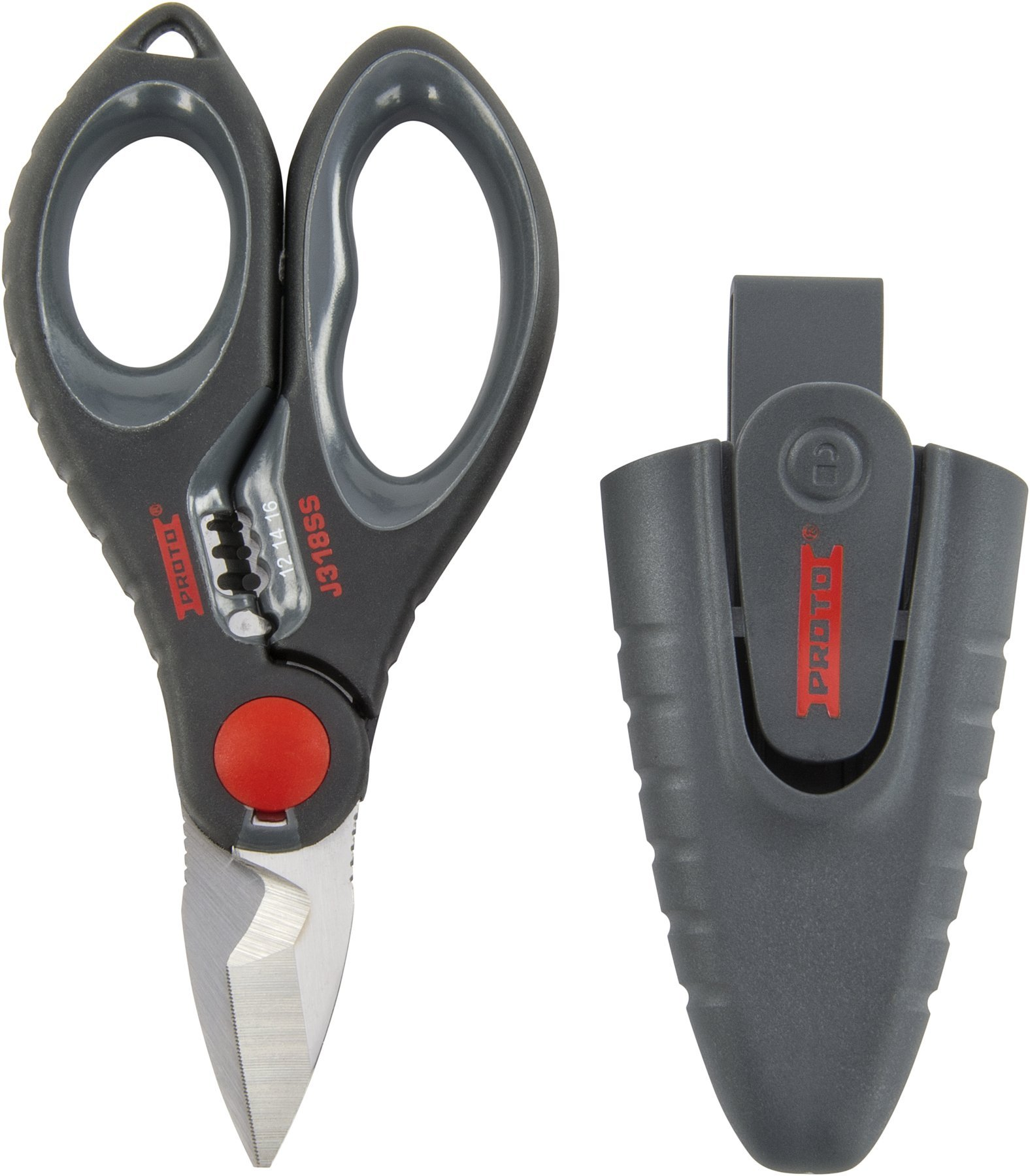 Stanley Proto J318SS Stainless Steel Electricians Scissors, 6-7/64-Inch