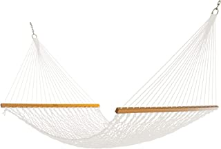 product image for Nags Head Hammocks NH13PDouble PolyesterRope Hammock with Free Extension Chains & Tree Hooks, Handcrafted in The USA, Accommodates 2 People, 450 LB Weight Capacity, 13 ft. x 55 in.