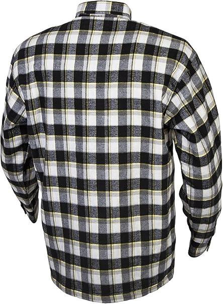 SCORPION Covert Camisa de Kevlar con forro de franela negro/amarillo 3 x l: Amazon.es: Coche y moto