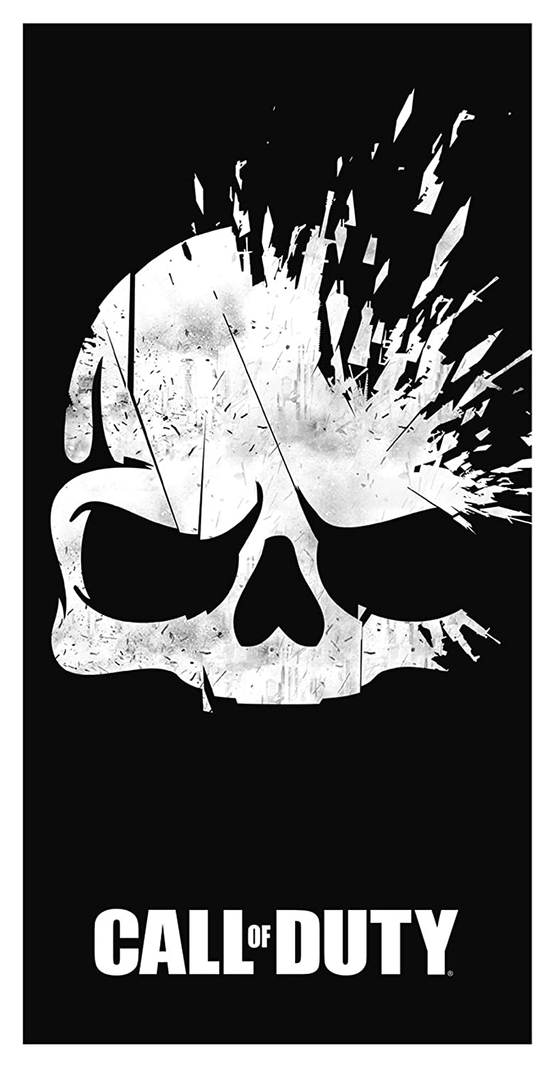 Call of Duty Broken 'Skull' Black Beach Towel Dreamtex TW3-COD-BSC-20-M