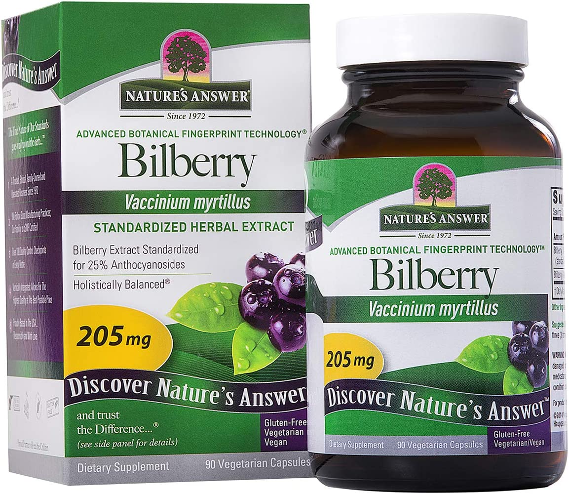 Nature's Answer Standardized Bilberry, 90-Count