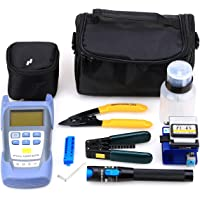 FTTH Fiber Optic Tool Kit with Fiber Fibra Optica Power Meter and 1mW Visual Fault Locator and Cable Cutter Stripper FC…