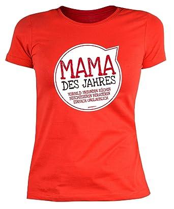 Geschenkidee zum Muttertag: Girlie Damen T-Shirt: Dahoam is wo mei Mama is  - Mutter Sprüche - Farbe: Rot: Amazon.de: Bekleidung