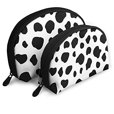 Amazon.com: Bolsa de cosméticos con diseño de vaca blanca y ...