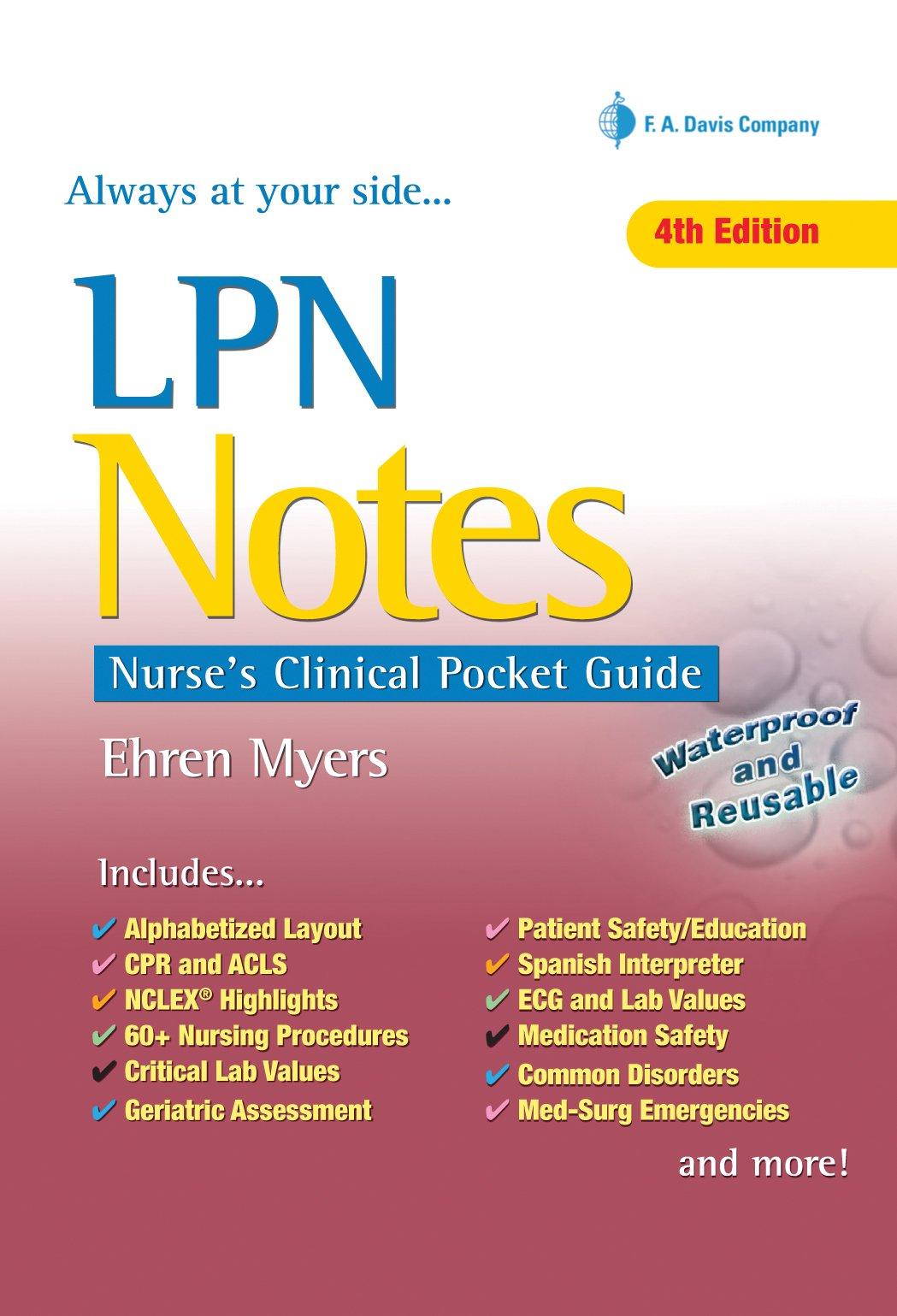 Lpn Notes Nurse S Clinical Pocket Guide Ehren Myers Rn