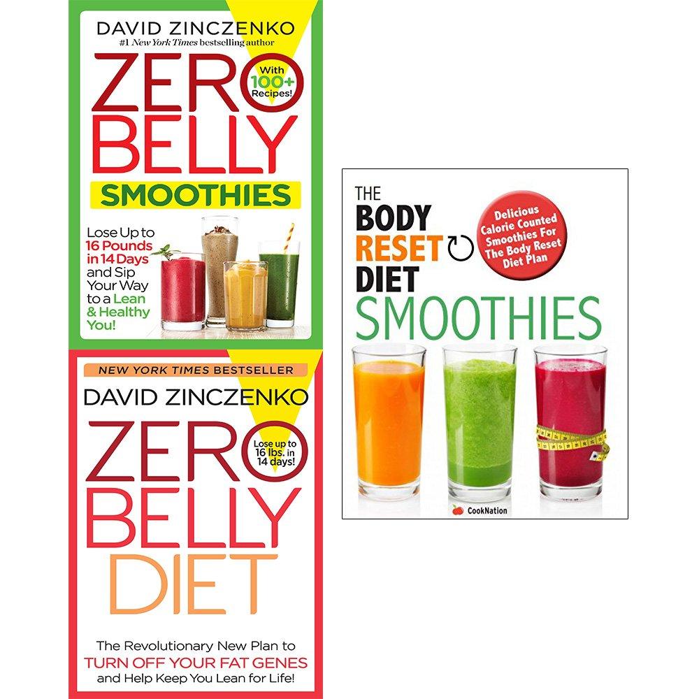 Zero Belly Smoothies Diet Hardcover And Body Reset Diet Smoothies 3 Books Collection Set David Zinczenko Cooknation 9789123675289 Amazon Com Books
