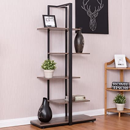 Tangkula 60quot Bookcase Home Office Tower Open Concept Display Etagere Shelf Bookshelf