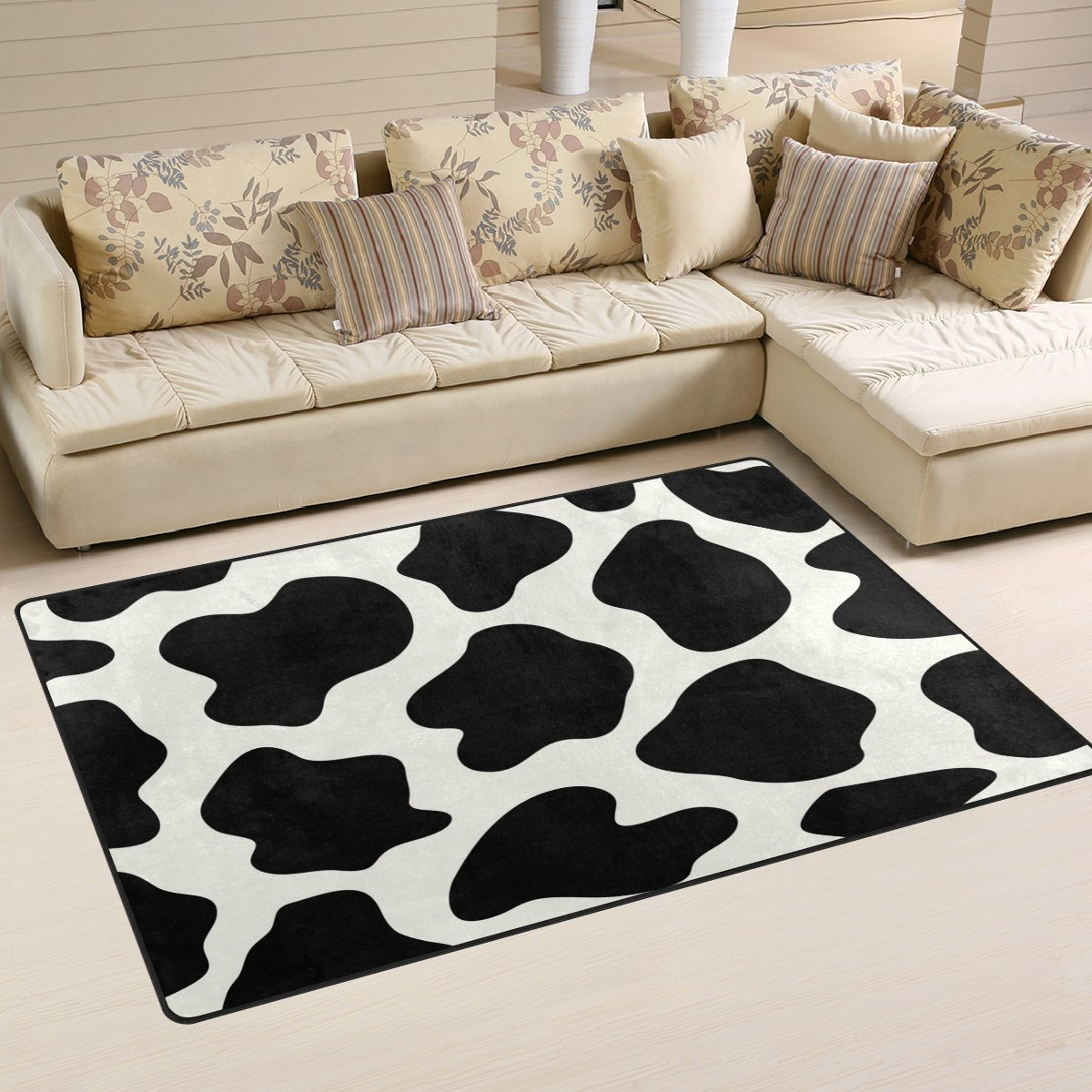 WOZO Animal Cow Print Area Rug Rugs Non-Slip Floor Mat Doormats Living Room Bedroom 31 x 20 inches by WOZO (Image #1)