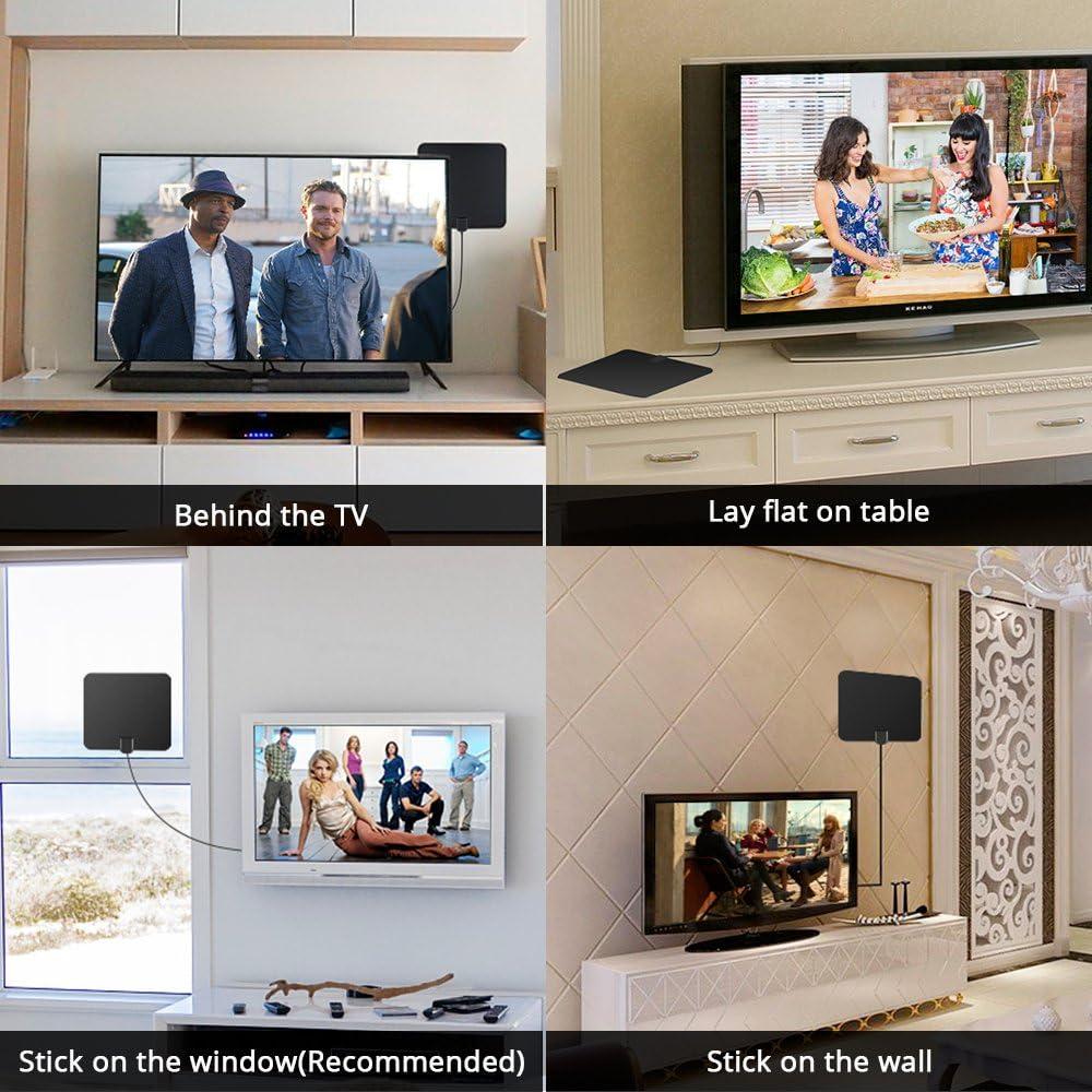 Antena de TV Digital,con Amplificador de señal Amplificador de Antena de TV HDTV TDT TDT TV por Cable Antena de Fox Alcance de 60 Millas por Firmrock: Amazon.es: Electrónica