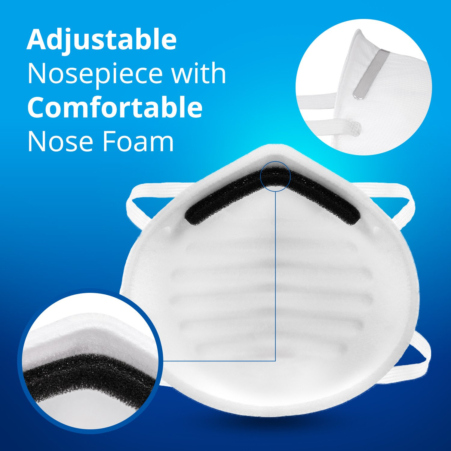Disposable Dust Masks for face - NIOSH Certified - Safety N95 Particulate Respirator Mask (20 pack) by Protect Life (Image #6)