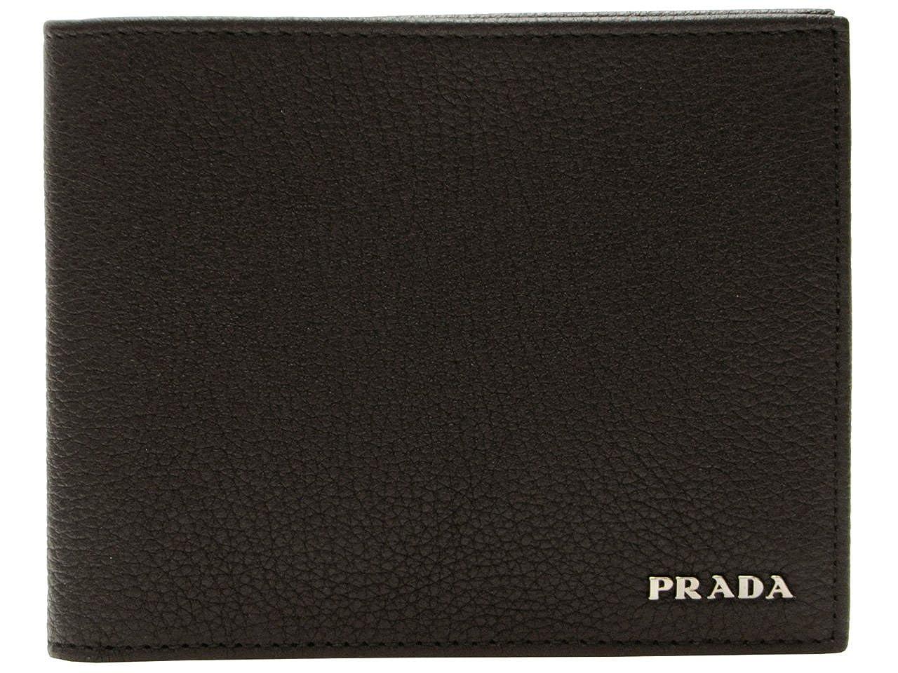 (プラダ) PRADA 財布 二つ折り メンズ ブラック レザー 2mo002vitgra-nero ブランド [並行輸入品] B01LWVP2XG