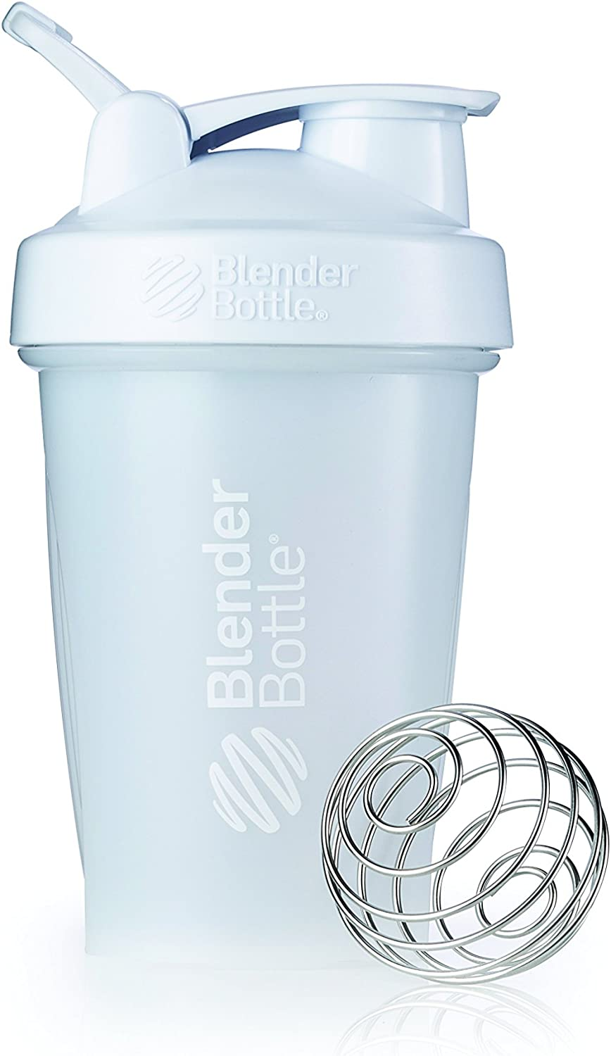 BlenderBottle Classic Loop Top Shaker Bottle, 20-Ounce, Frosted White