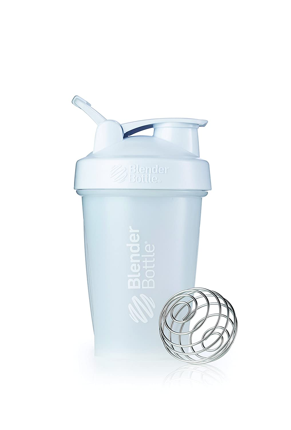 BlenderBottle SC00592 Classic Loop Top Shaker Bottle, 20-Ounce, Frosted White